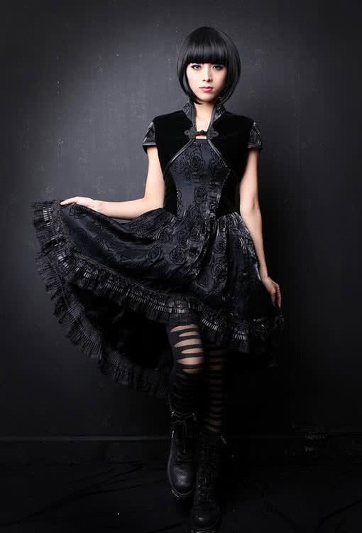 romantisches kleid mit bolero l 40 gothic kleider. Black Bedroom Furniture Sets. Home Design Ideas
