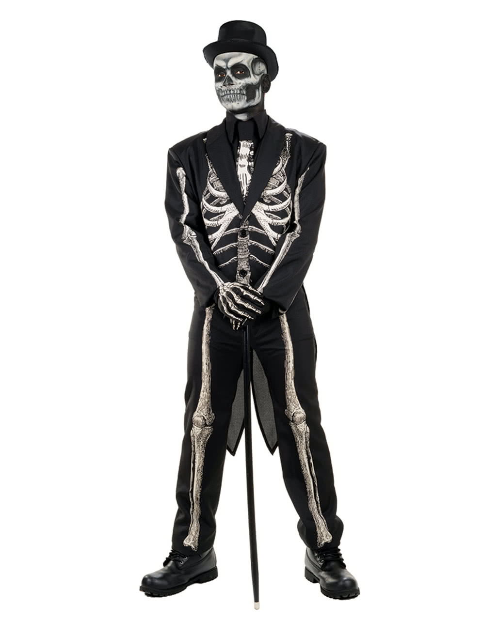 Skeleton Outfit Halloween.Skeleton Suit Costume Tailcoat