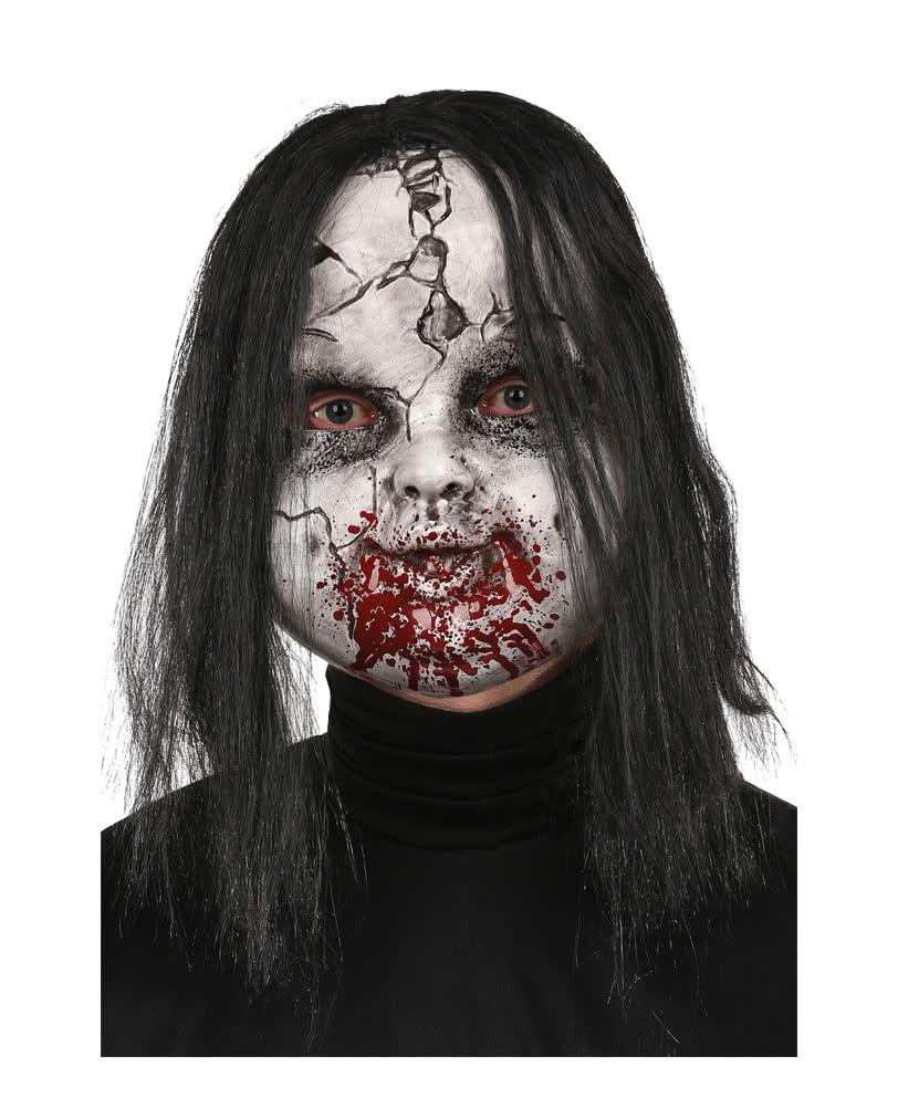 broken zombie doll maske horror masken g nstig online. Black Bedroom Furniture Sets. Home Design Ideas