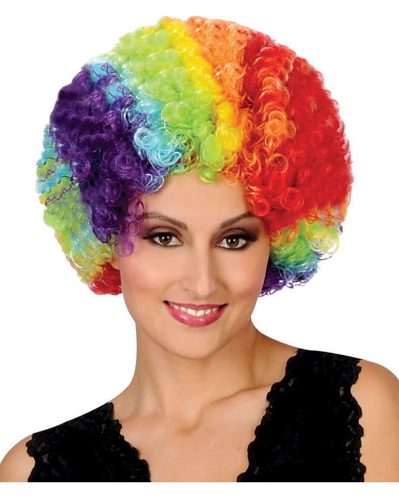 SZL-001-colorful Perruque Dame Homme Clown Afro Boucles Halloween Carnaval color/é WIG ME UP /®
