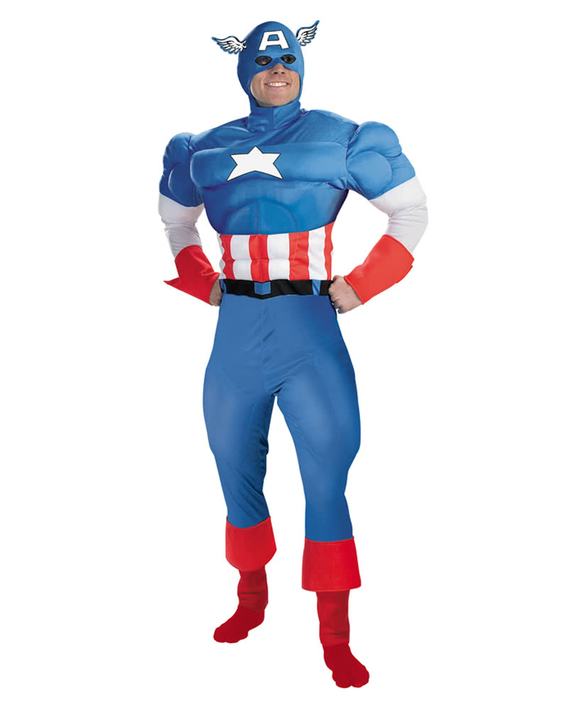 Marvel Super Hero Captain America Mask Adults Halloween Dress Party Accessory