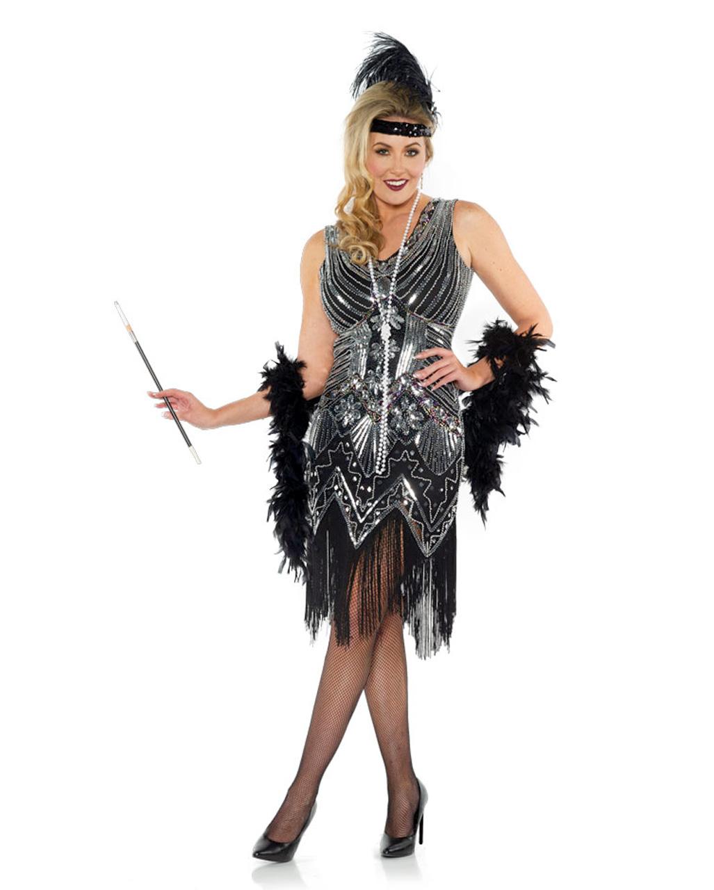 Brand New Enchanting Flapper 1920s Adult Costume