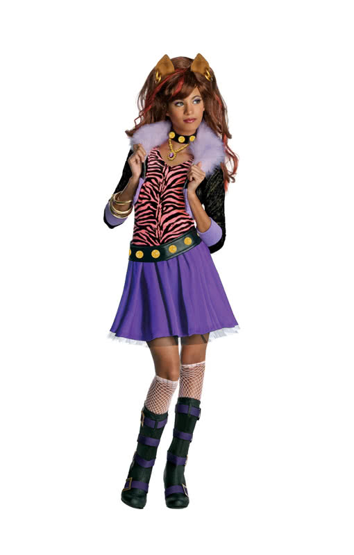 Monster High Clawdeen Wolf Kostuem.Clawdeen Wolf Girls Costume The Daughter Of The Werewolf Is A Fierce Fashionista Horror Shop Com