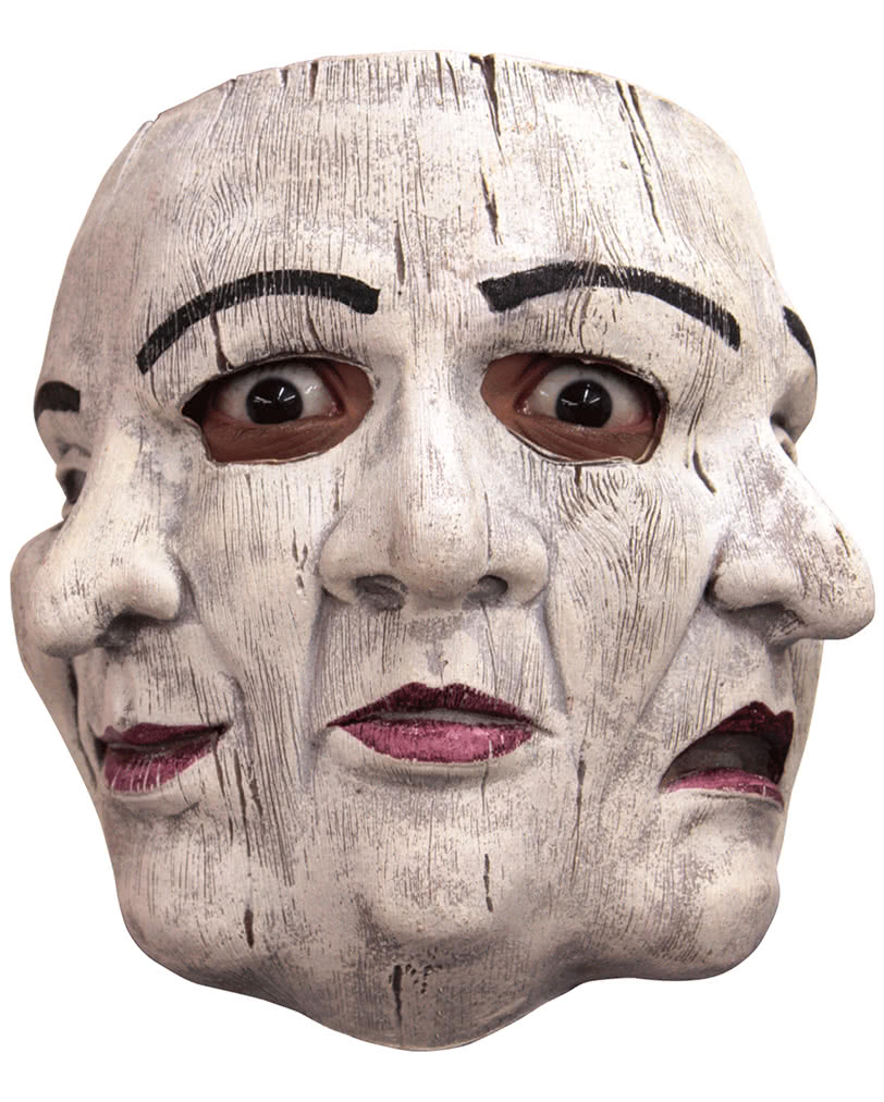 3 faced theater mask made of latex happy sad mask horror. Black Bedroom Furniture Sets. Home Design Ideas