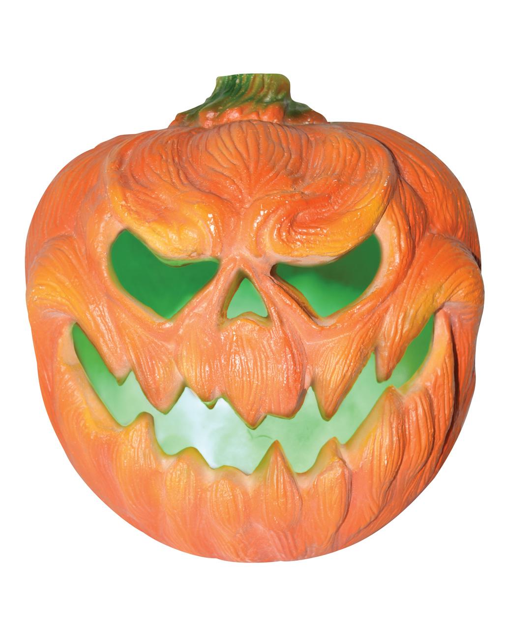 Creepy Kurbis Halloween Deko Mit Licht 31cm Kaufen Horror Shop Com