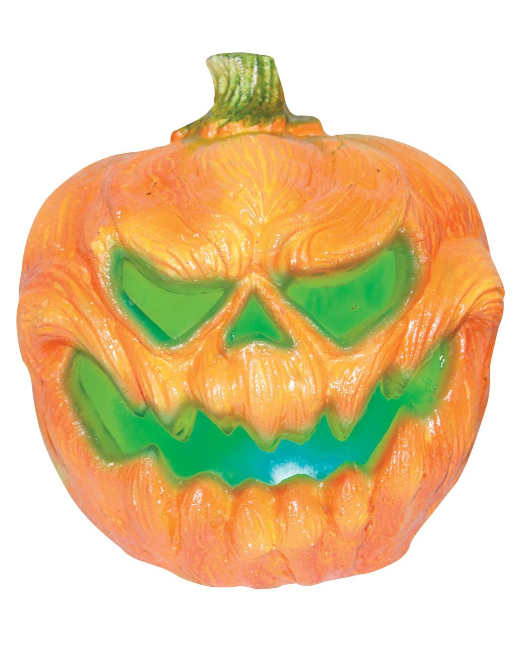 Creepy Kurbis Halloween Deko Mit Licht 19cm Kaufen Horror Shop Com