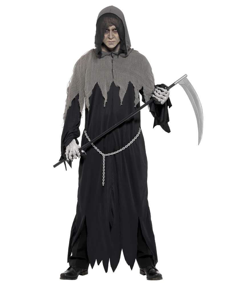 creepy grim reaper robe grim reaper kostm with hood. Black Bedroom Furniture Sets. Home Design Ideas