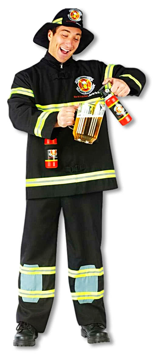 firefighter costume thirst quencher xl firemen uniforms. Black Bedroom Furniture Sets. Home Design Ideas