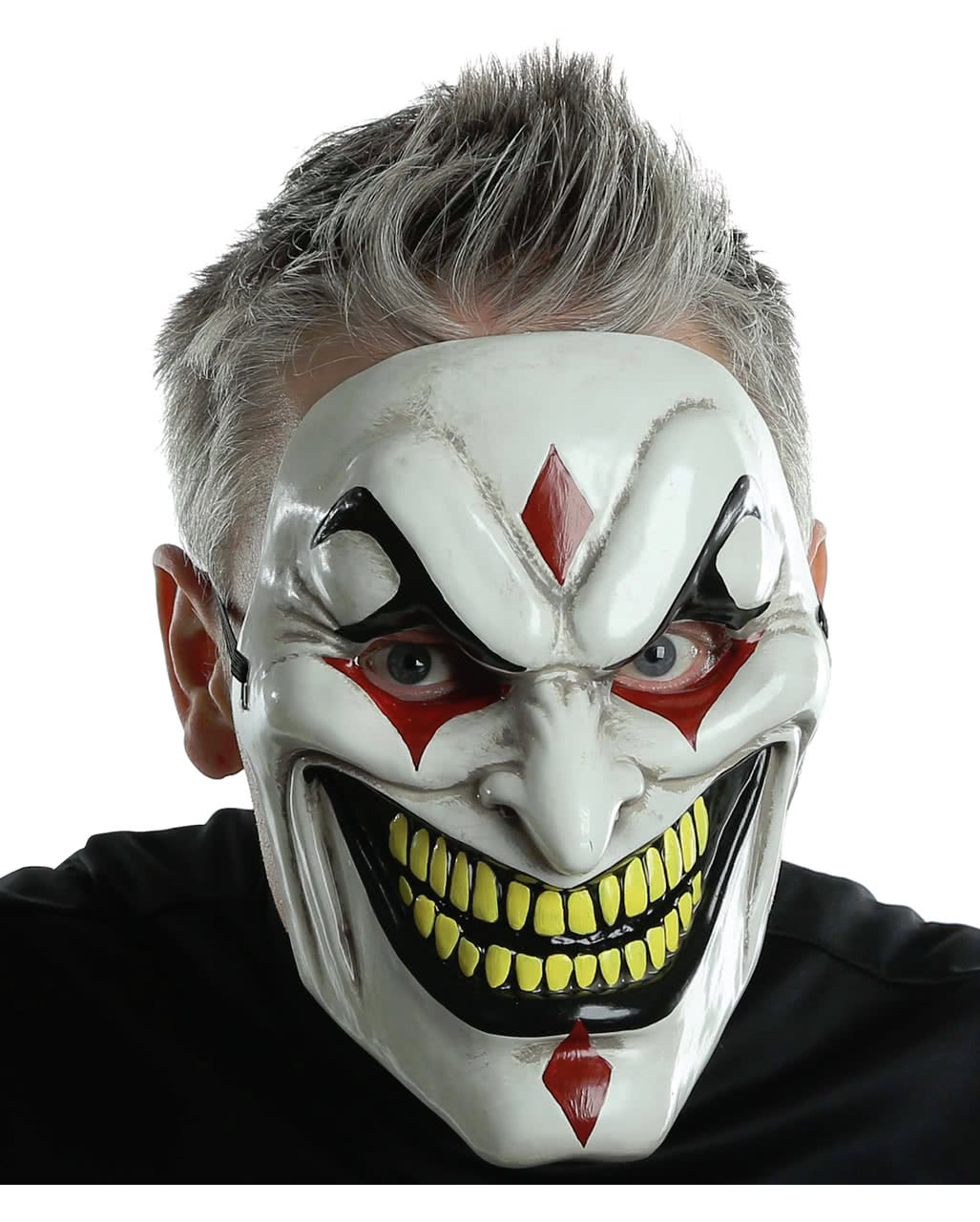 Halloween Demon Scary Psycho Two Face Evil Clown Horror Dress Latex Party Masks