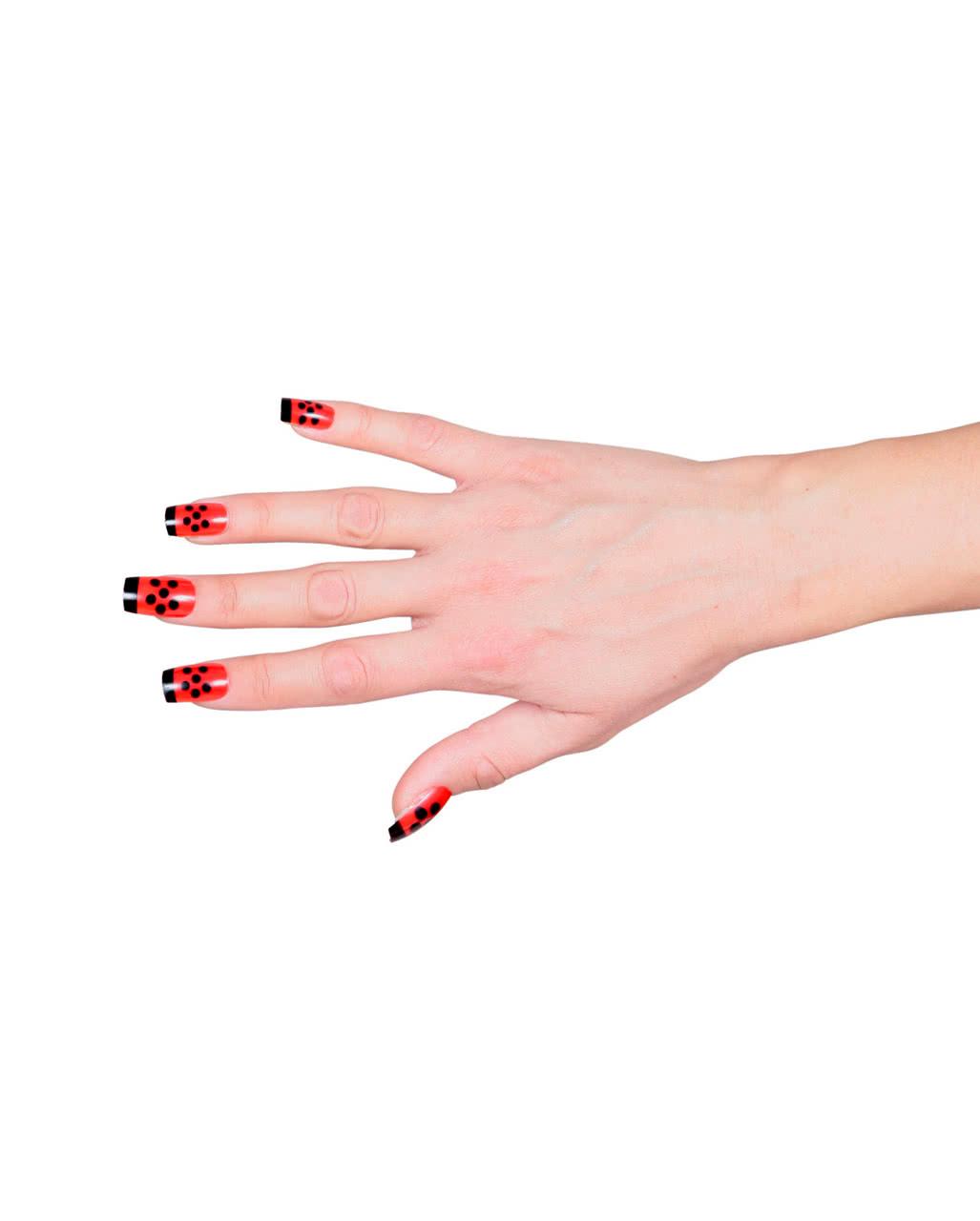 fingernails set ladybug as a costume accessory horror. Black Bedroom Furniture Sets. Home Design Ideas