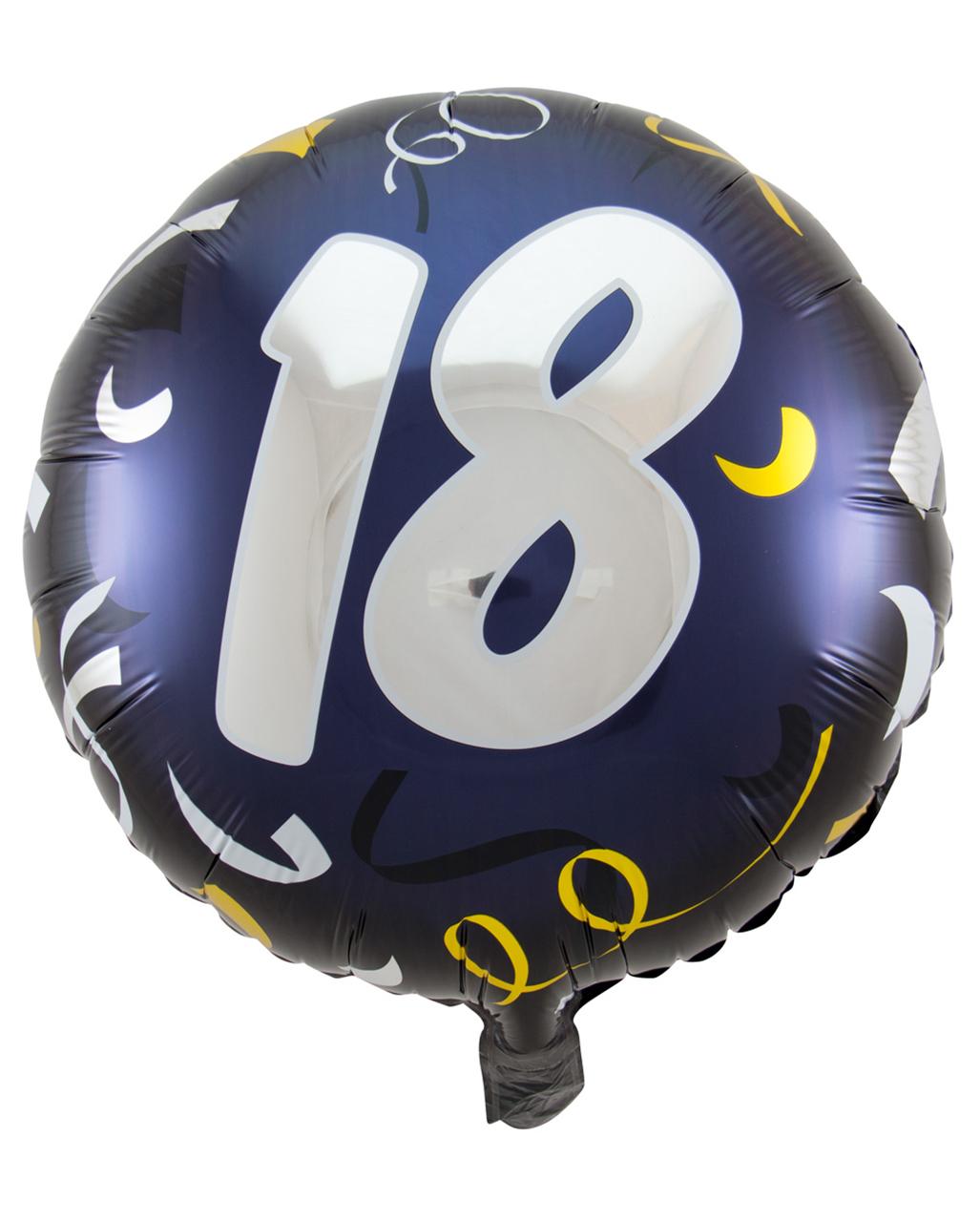 Folienballon 18 schwarz gold 45cm geburtstags deko horror - Deko schwarz gold ...