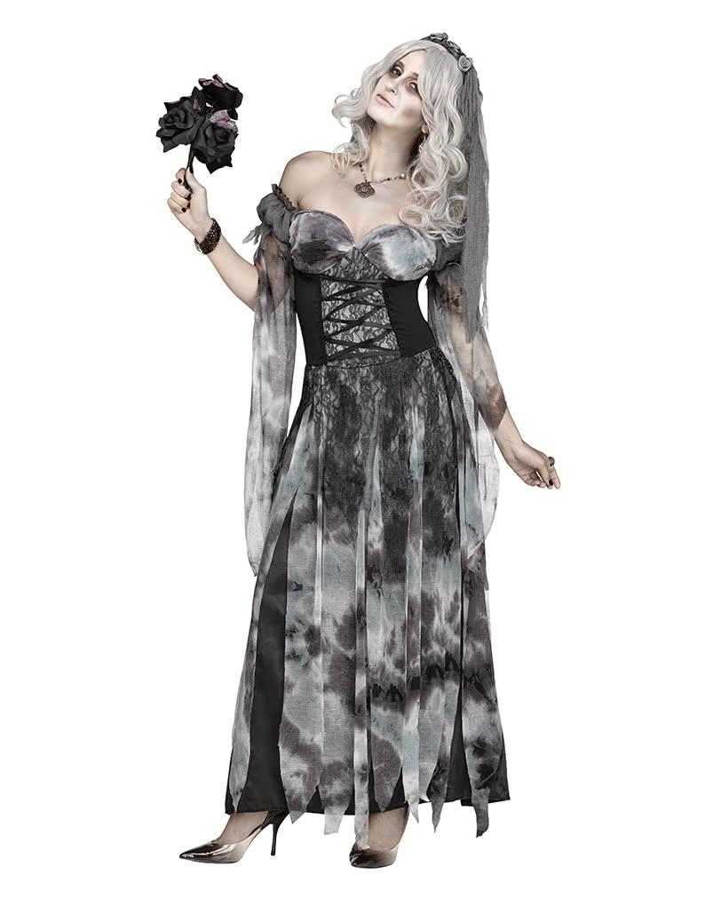 friedhofs braut halloweenkost m mit schleier elegante halloween kost me horror. Black Bedroom Furniture Sets. Home Design Ideas