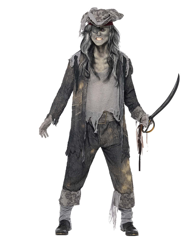 ghost pirate costume xl zombie pirates look horror. Black Bedroom Furniture Sets. Home Design Ideas