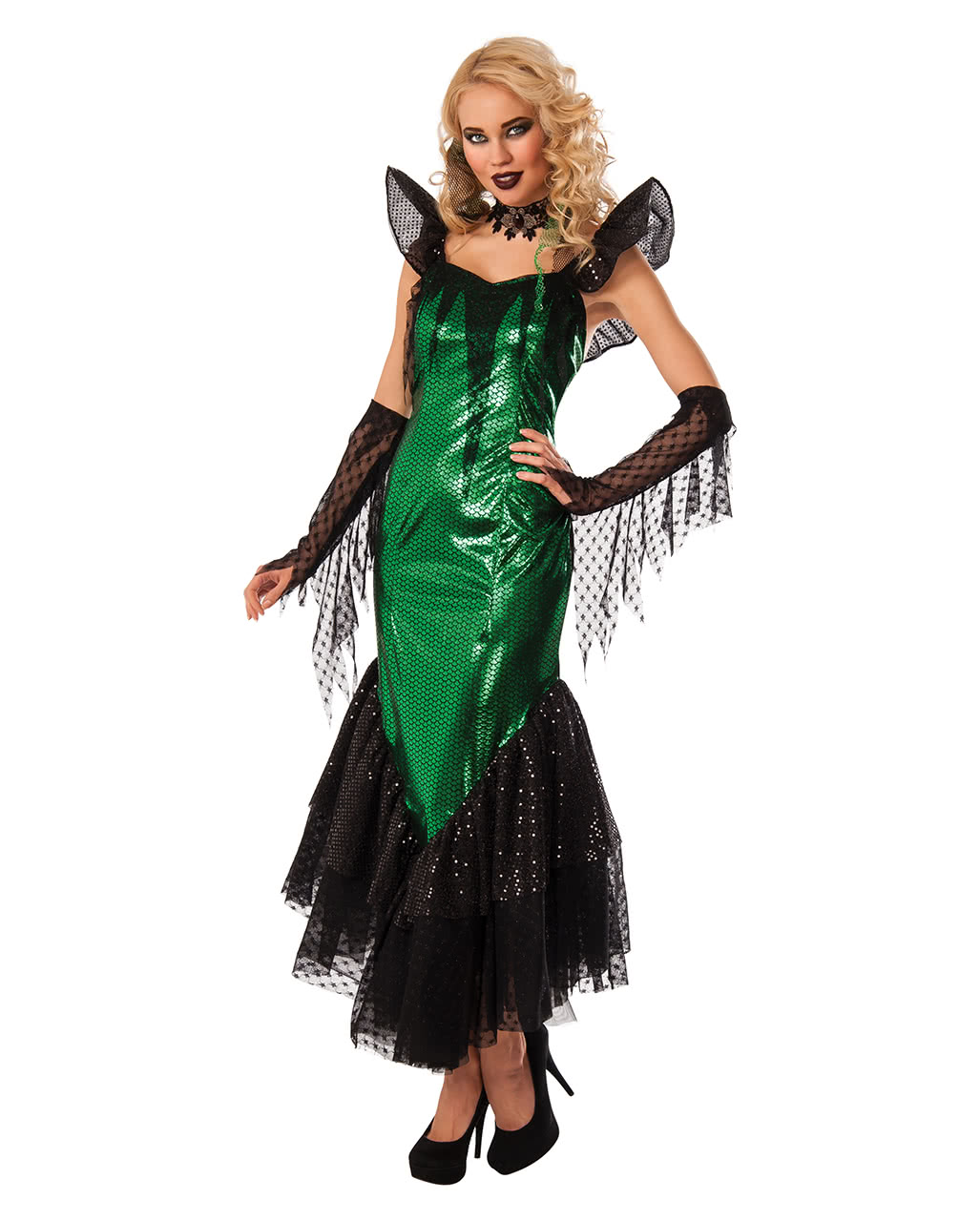 gothic mermaid costume for halloween horror. Black Bedroom Furniture Sets. Home Design Ideas