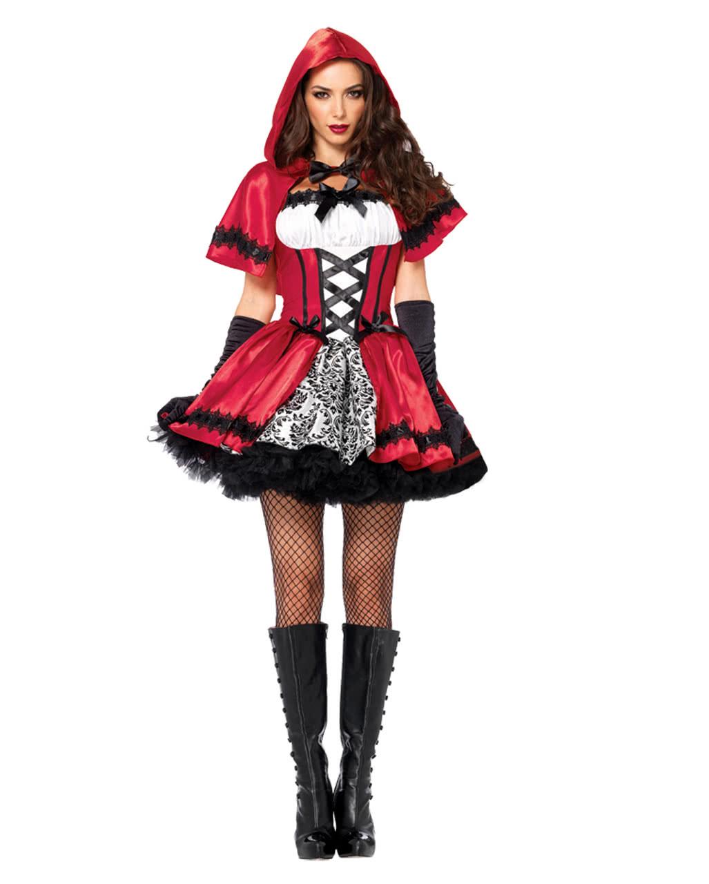Womens Little Red Riding Hood Cape Fancy Dress Costume Accessory