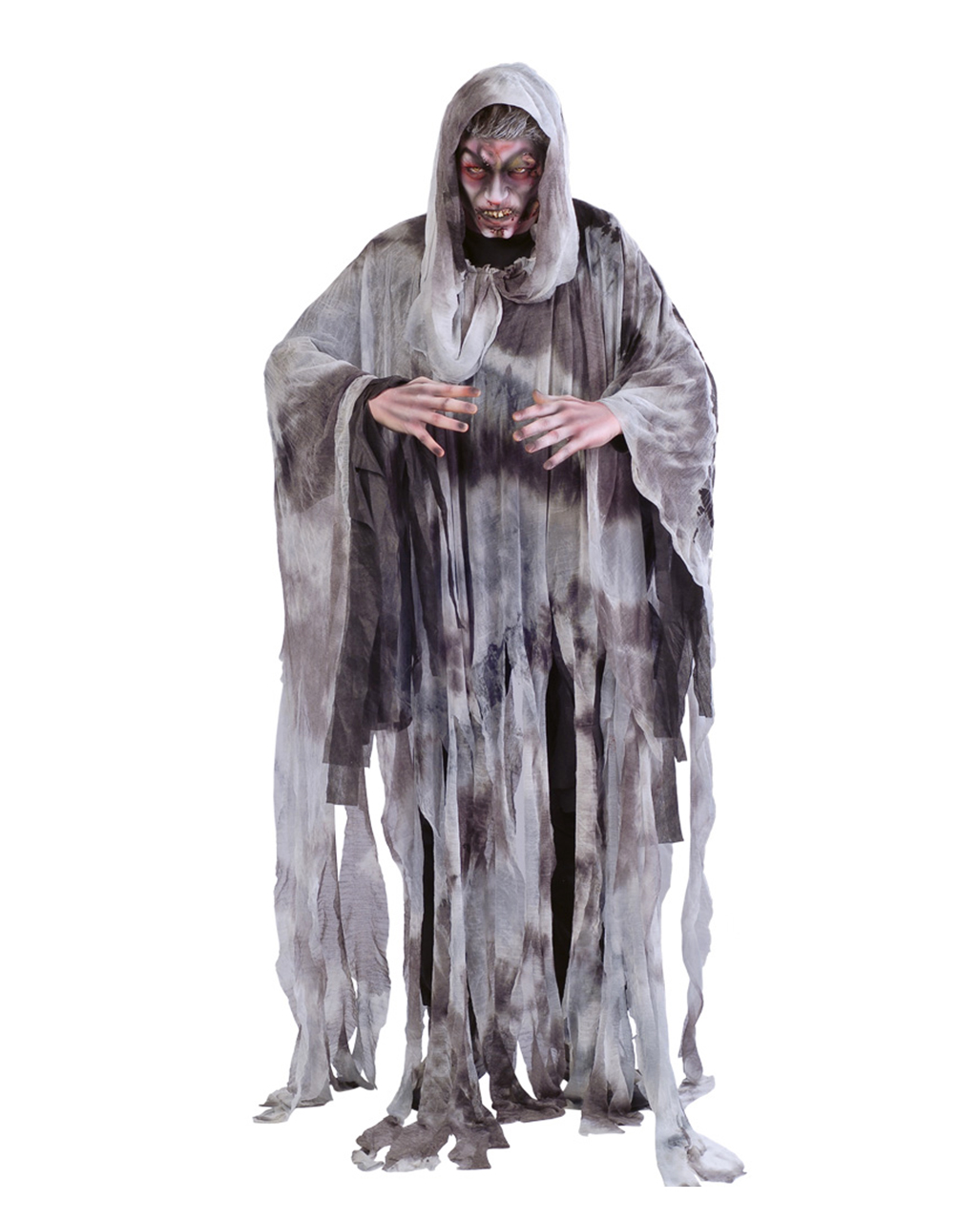 Halloween Fasching Karneval Dämon Geist Kostüm Schwarz Herrenkostüm Horror