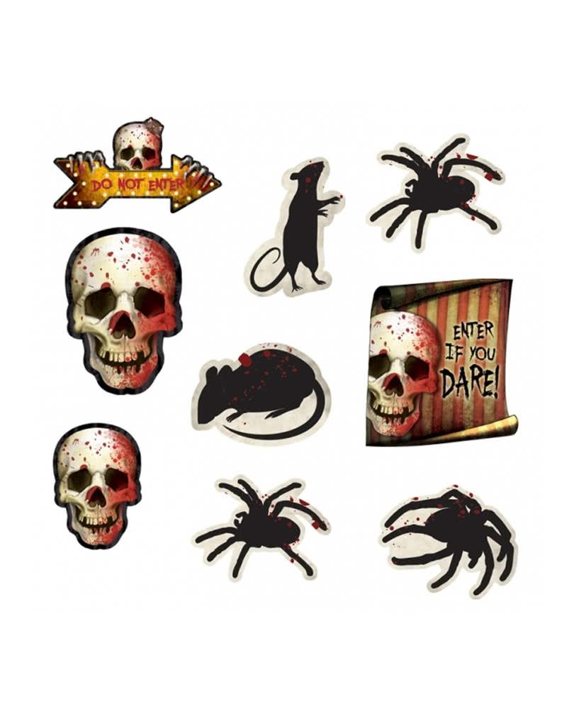 Halloween carnival dekoration 12 teilige als preiswerte - Halloween fensterbilder ...