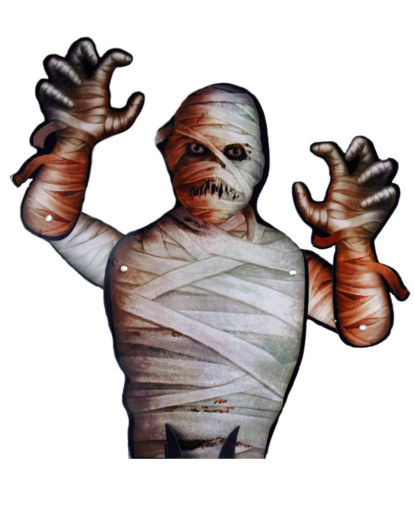 halloween tischdeko mumie pappaufsteller als fensterdeko. Black Bedroom Furniture Sets. Home Design Ideas