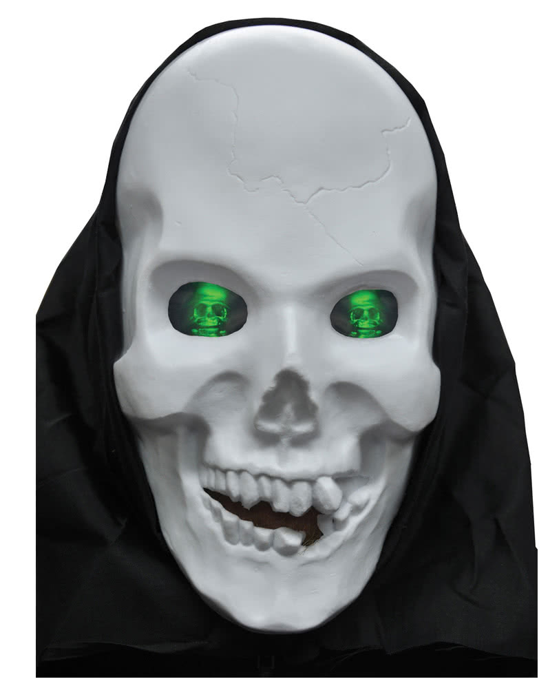 totenkopf maske mit hologram augen halloween skull maske. Black Bedroom Furniture Sets. Home Design Ideas