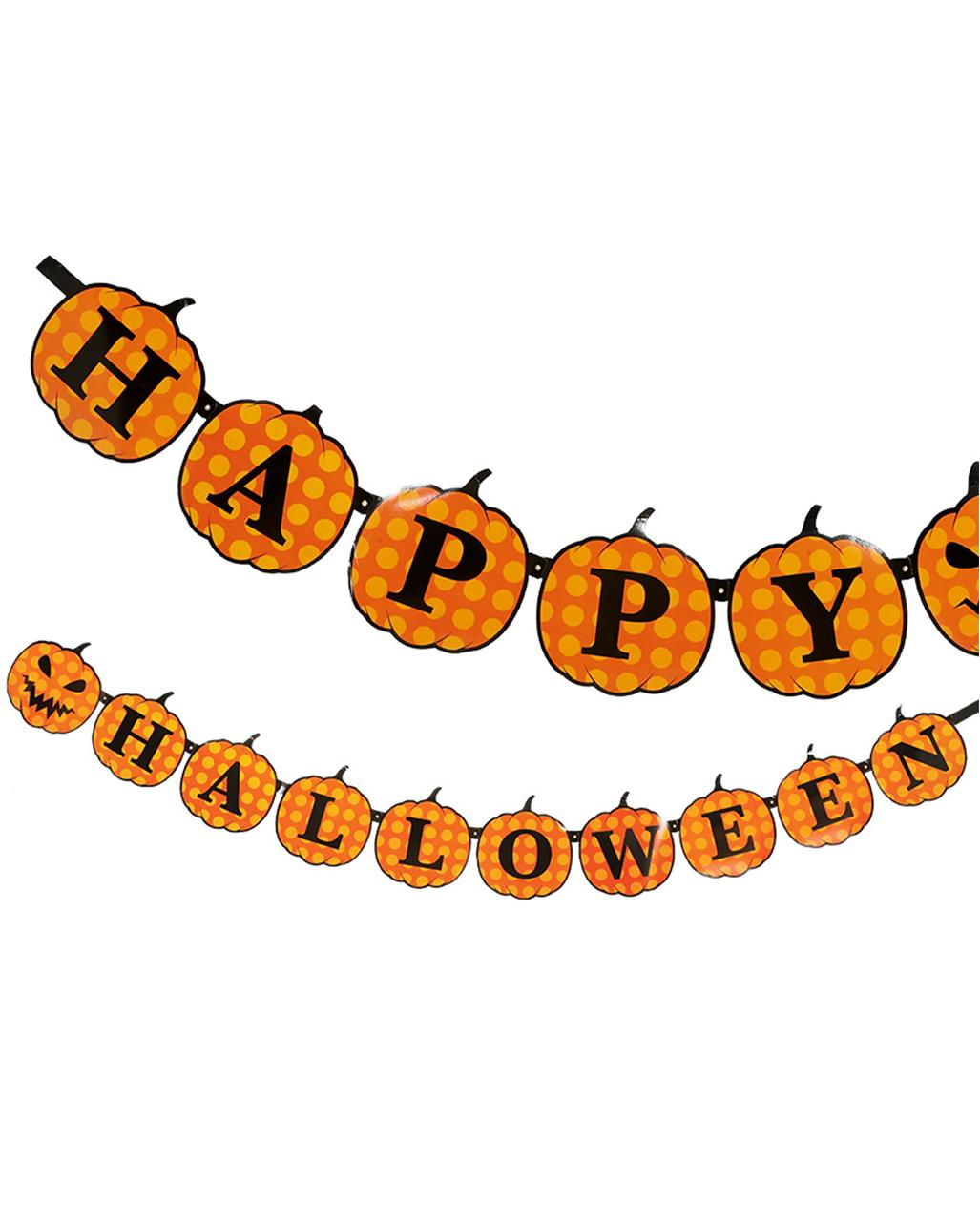 Happy halloween k rbis girlande 3m dekoration horror - Halloween girlande ...