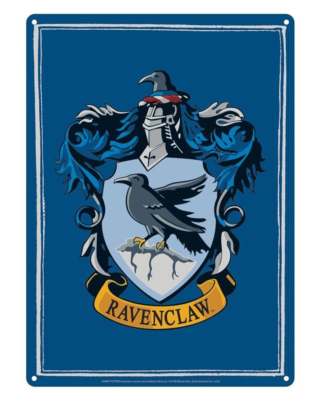 Harry Potter Ravenclaw Metal Plate Din A5 Order Horror Shop Com