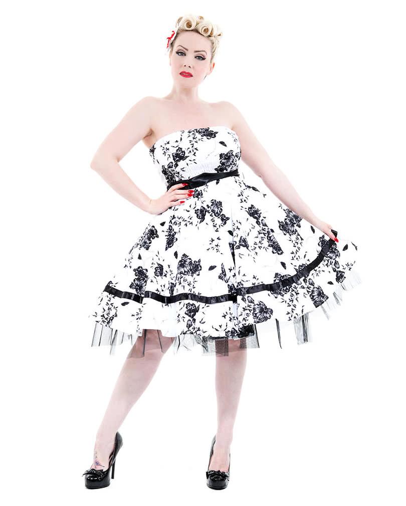 bandeau dress white flowers xxl summer dress bandeau. Black Bedroom Furniture Sets. Home Design Ideas