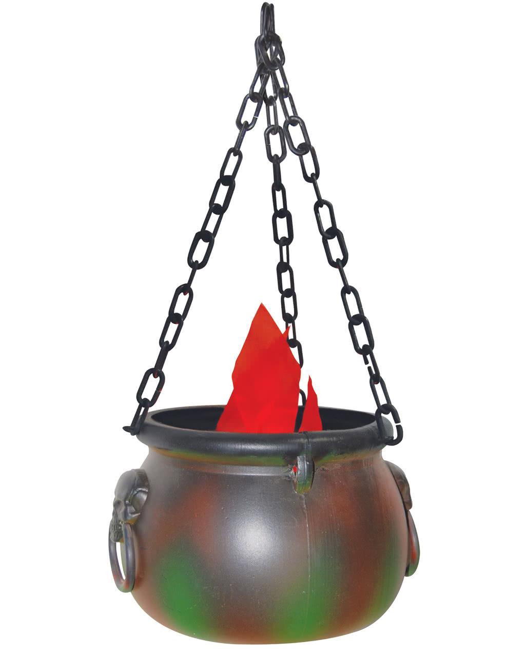 cauldron with flames led light halloween decoration horror. Black Bedroom Furniture Sets. Home Design Ideas