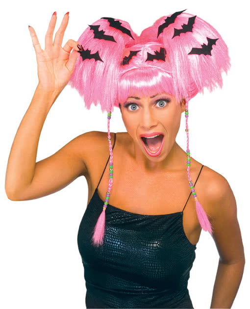 Halloween Wig With Bats