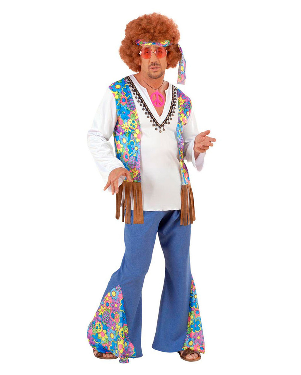 Hippie Männer Kostüm Gr. L für Karneval | Horror-Shop.com