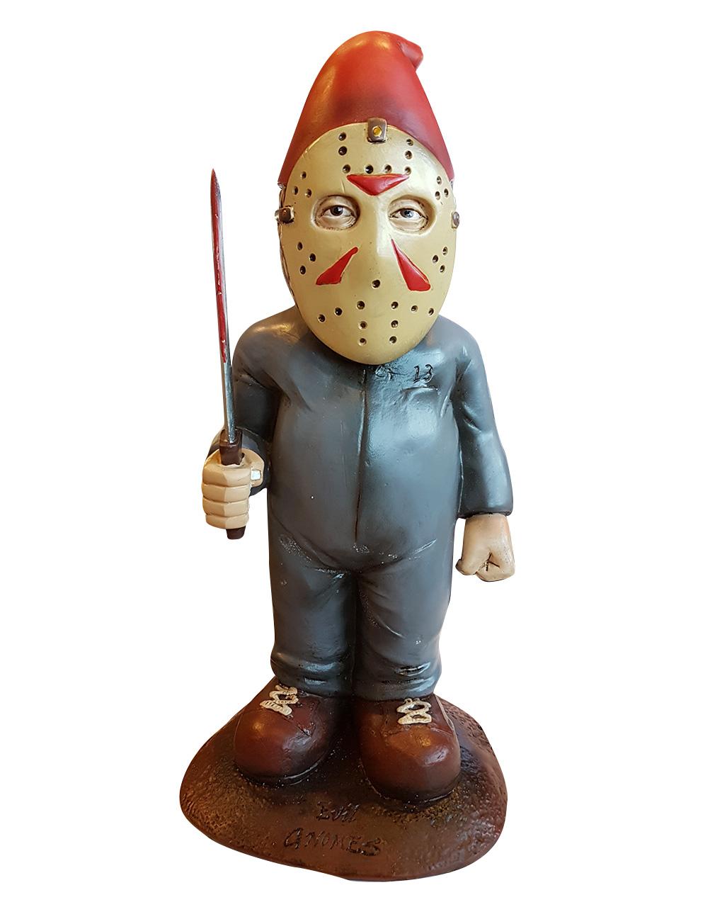 Horror Gartenzwerg Thirteen Als Halloween Deko Horror Shop Com