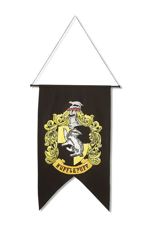 hufflepuff banner harry potter deko horror. Black Bedroom Furniture Sets. Home Design Ideas