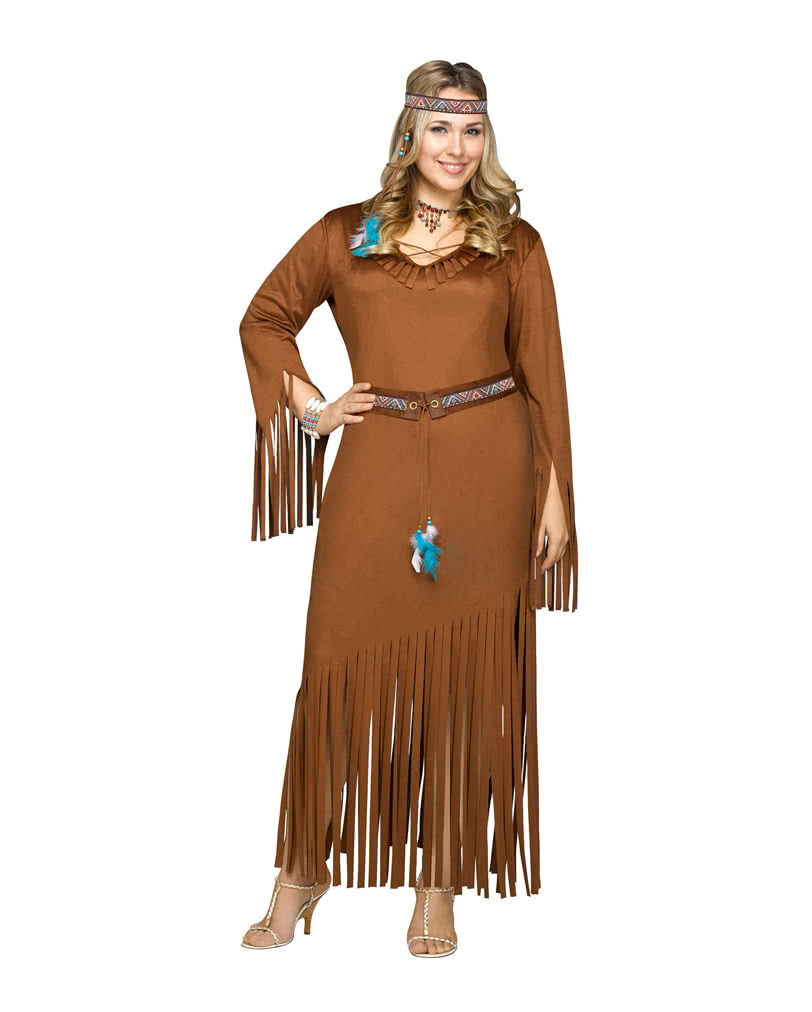indianerin kost m plus size wild west kost me g nstig kaufen horror. Black Bedroom Furniture Sets. Home Design Ideas