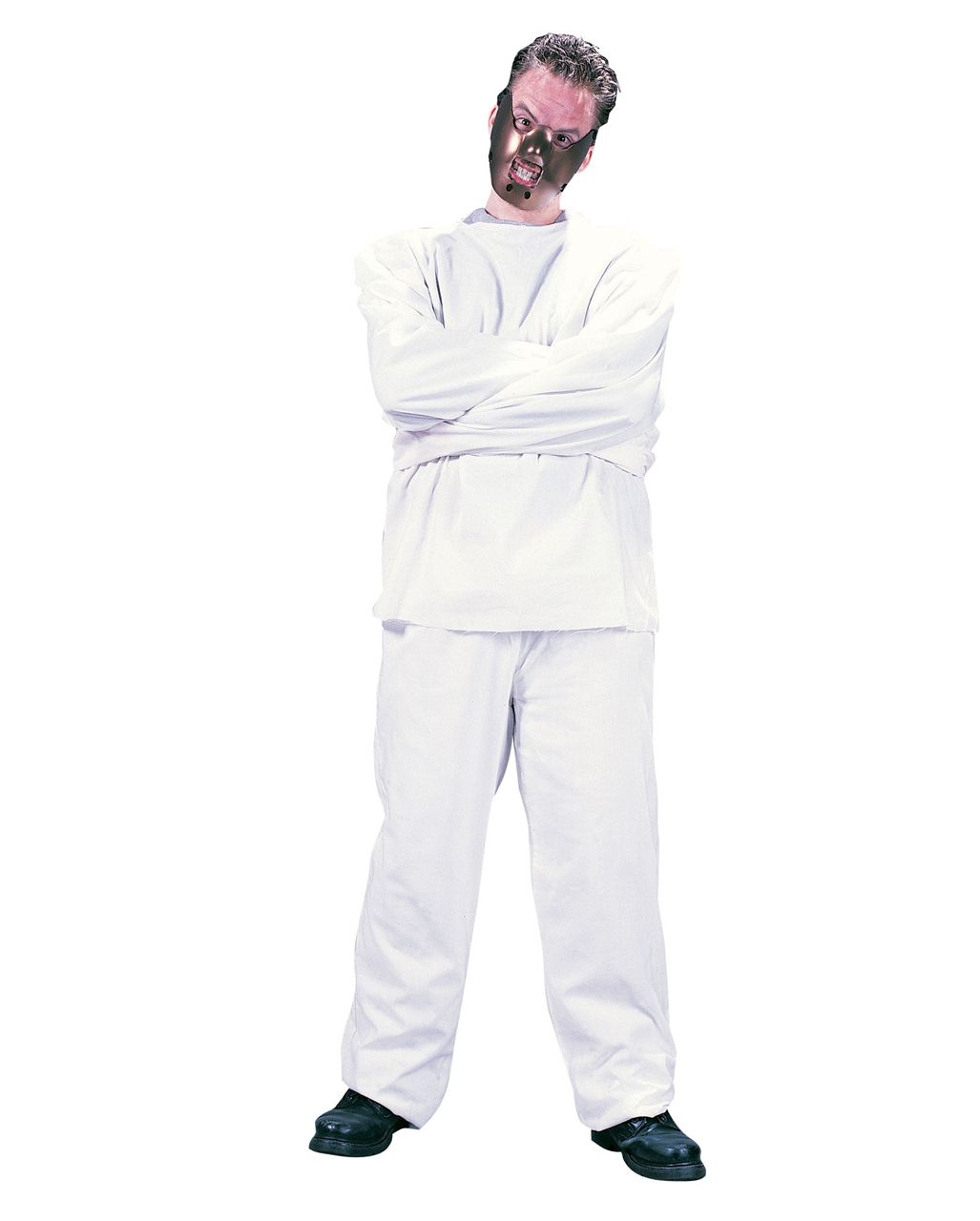 HALLOWEEN FANCY DRESS HANNIBAL LECTER STYLE COSTUME SCARY MASK STRAIGHT JACKET