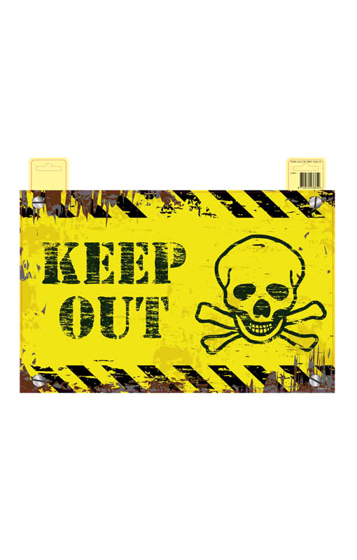 Keep Out Door Sign Skull Door Sign Warning Sign