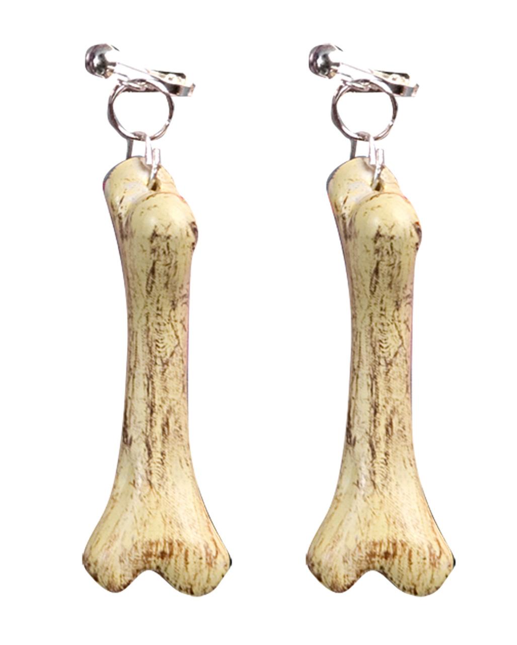 Cave Woman Bone Earrings