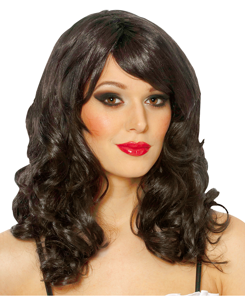 Curly Wig Eve Black -Black Long Hair Wig With Curls And