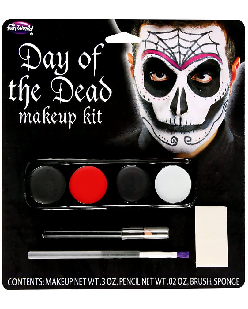 makeup kit day of the dead men halloween makeup horror. Black Bedroom Furniture Sets. Home Design Ideas