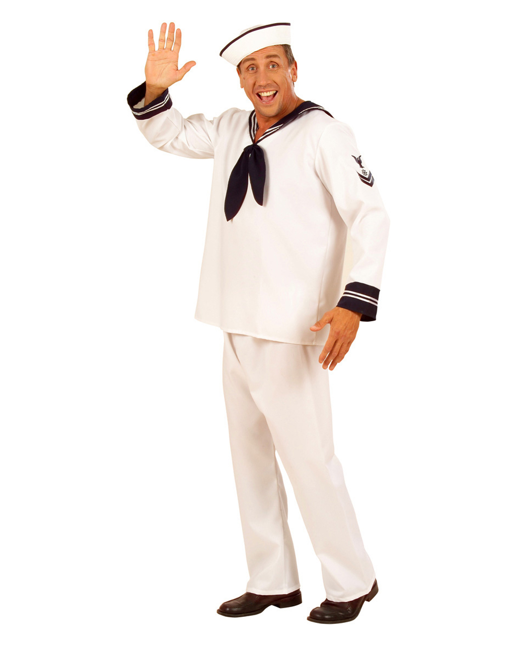 sailor suit 3 pieces m l sailor costume captain costume costumes seeman horror. Black Bedroom Furniture Sets. Home Design Ideas
