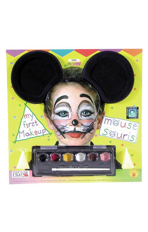 Maus Make Up Mit Mauseohren Faschings Schminke Fur Kinder Horror