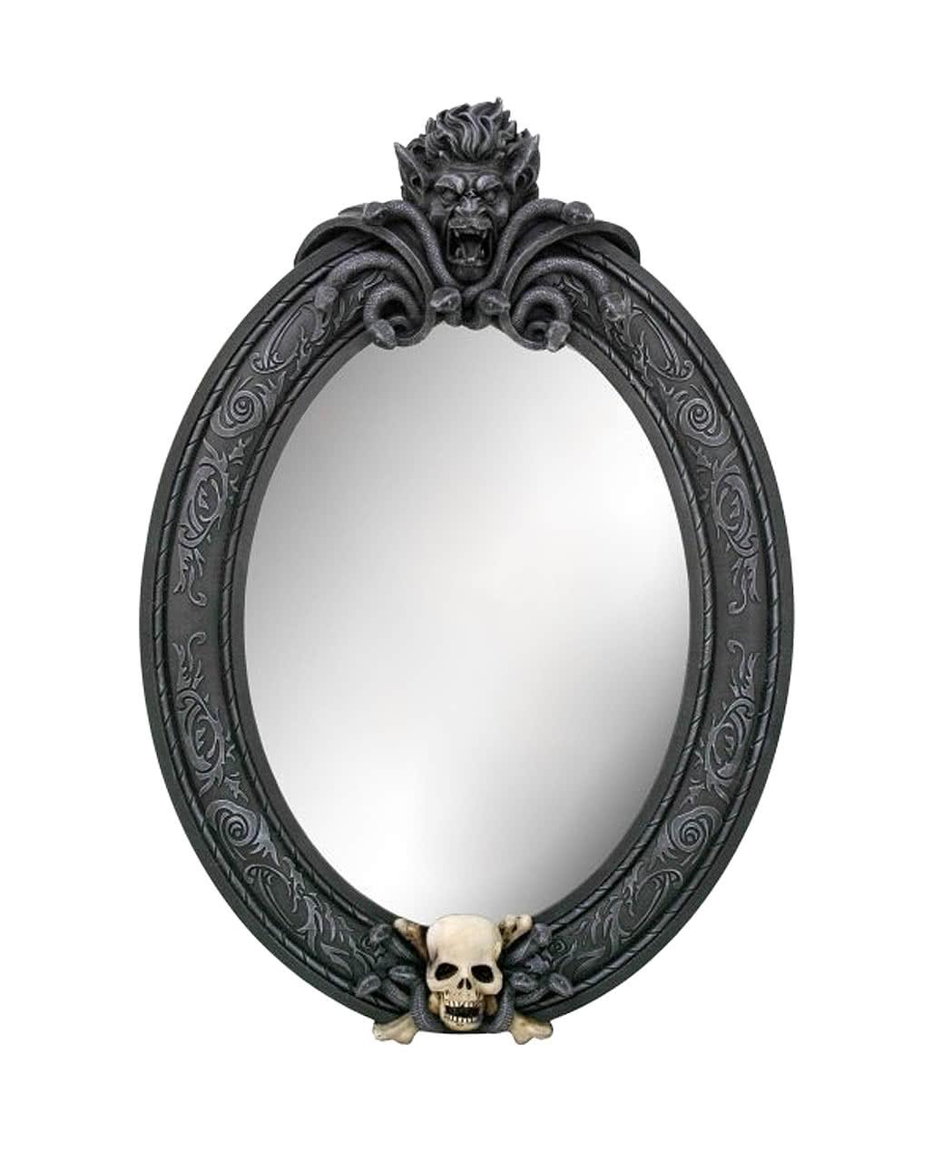 medusa wandspiegel mit totenkopf gothic deko horror. Black Bedroom Furniture Sets. Home Design Ideas