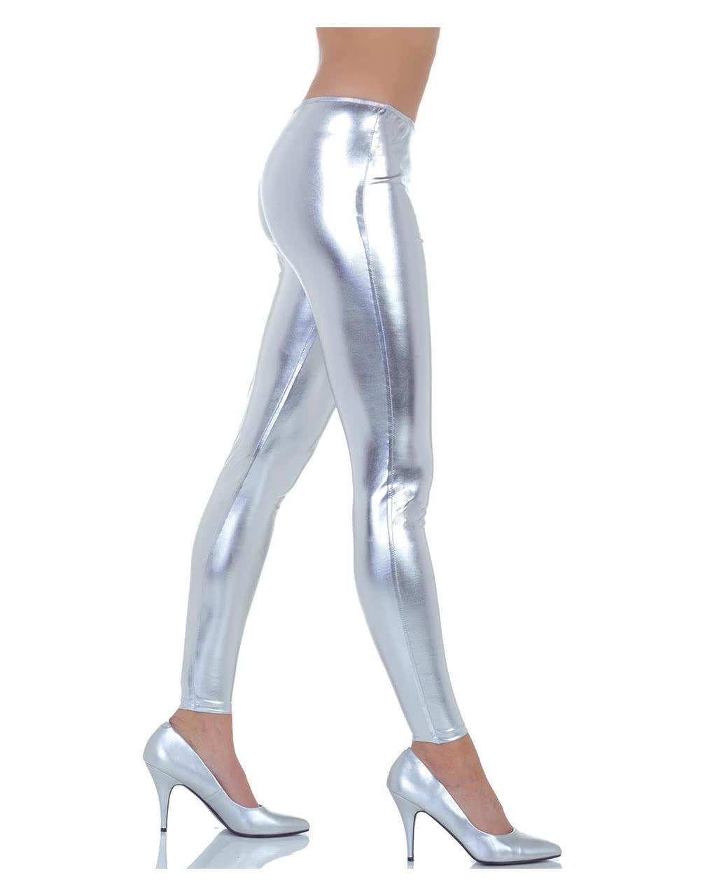 0439244c6f895c Metallic Leggings silber