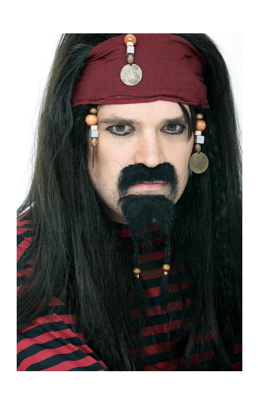 Kinnbart mit Perlen zum Kostüm an Karneval Fasching Halloween
