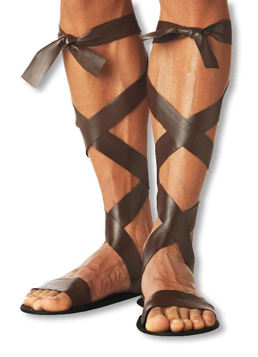 Römersandalen für Herren Antike Männer-Sandaletten für Krieger Römische Sandalen