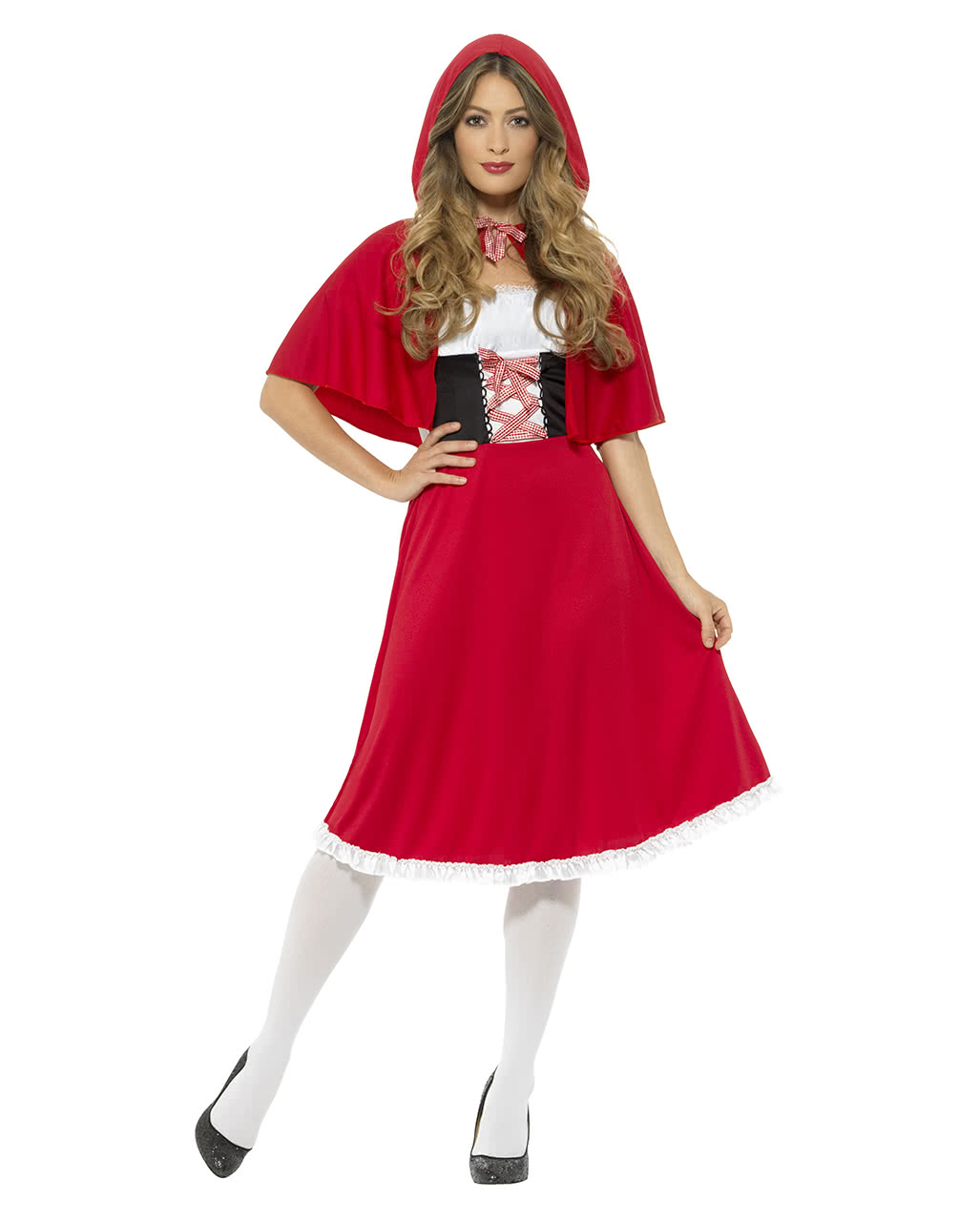Little Red Riding Hood Costume With Hood For Carnival Horror