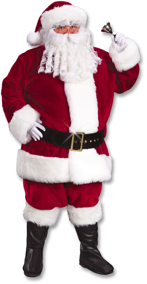 santa claus deluxe costume xl claret red father christmas. Black Bedroom Furniture Sets. Home Design Ideas