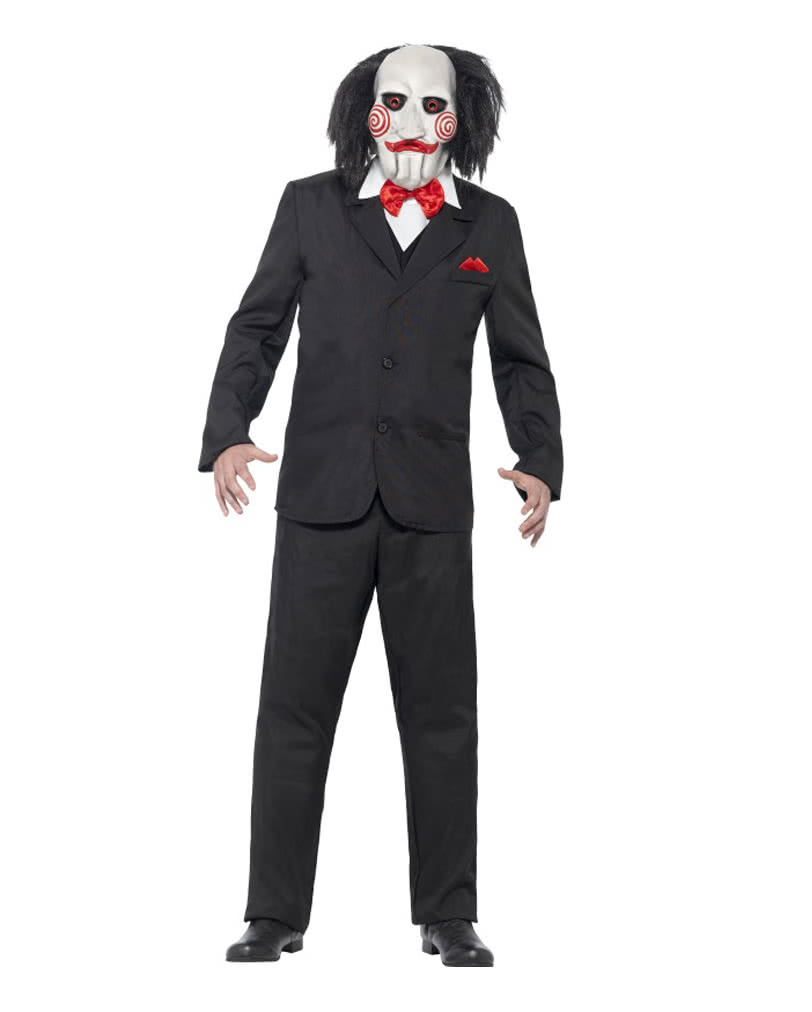 saw jigsaw costume licensed saw outfit with mask horror. Black Bedroom Furniture Sets. Home Design Ideas