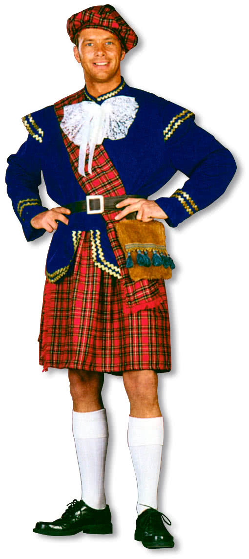 scotsman costume deluxe scottish costume scotsman fancy dress horror. Black Bedroom Furniture Sets. Home Design Ideas