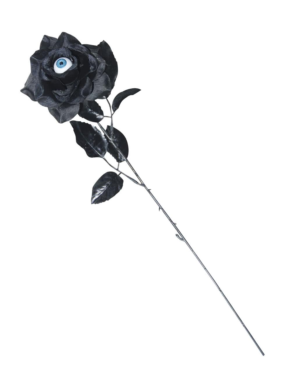 schwarze rose mit auge halloween deko blume horror. Black Bedroom Furniture Sets. Home Design Ideas