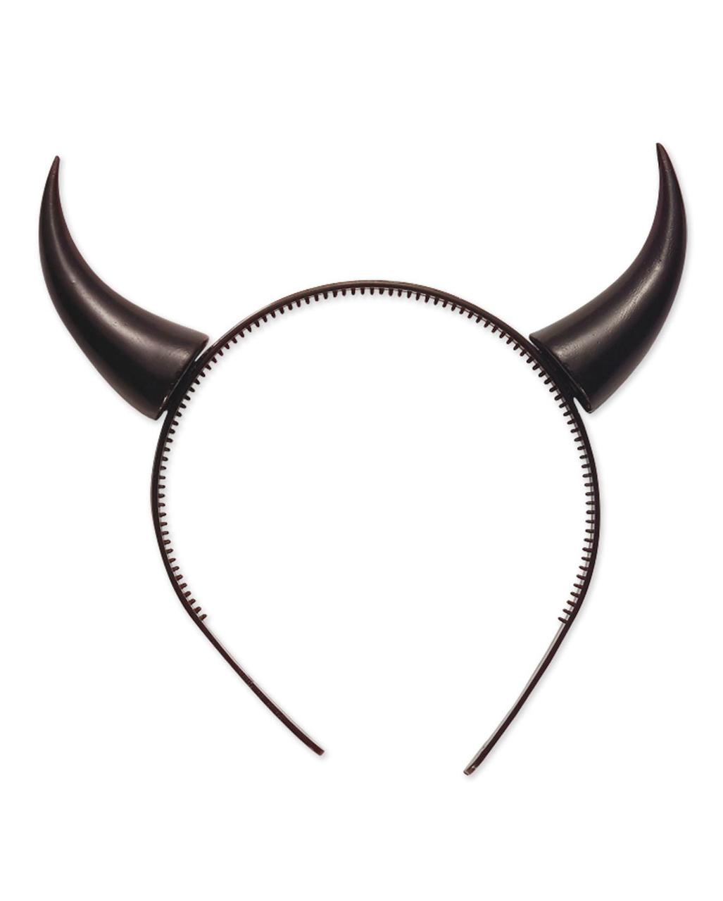 Teufel Hörner Teufelshörner schwarz Teufelin Kopfschmuck Halloween Kostüm Devil