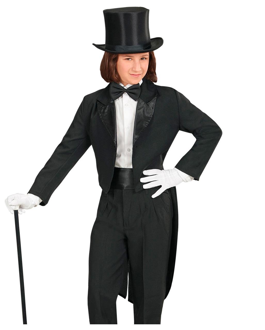 Child Blue Tailcoat Jacket Cabaret Magician Fancy Dress Outfit Kids
